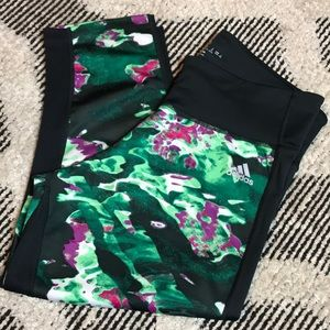 Adidas cropped work out pants